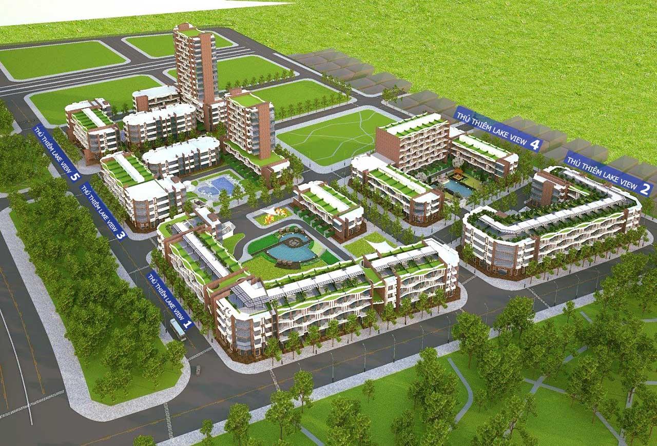 Bán căn hộ Thủ Thiêm Lake View sân vườn 2PN và 3PN