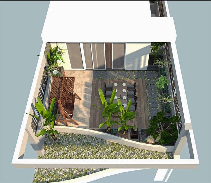 Hình 3D căn hộ Thủ Thiêm Lake View cho thuê