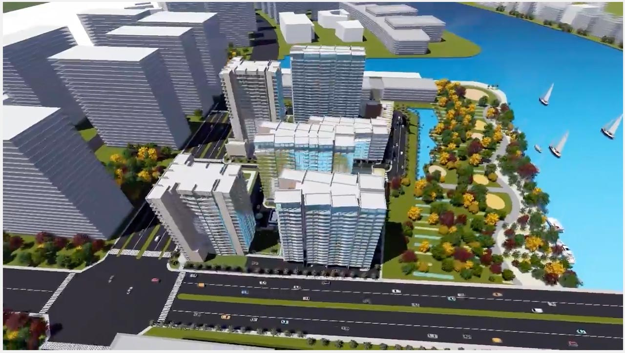 Hình phối cảnh dự án Thủ Thiêm River Park tại Quận 2