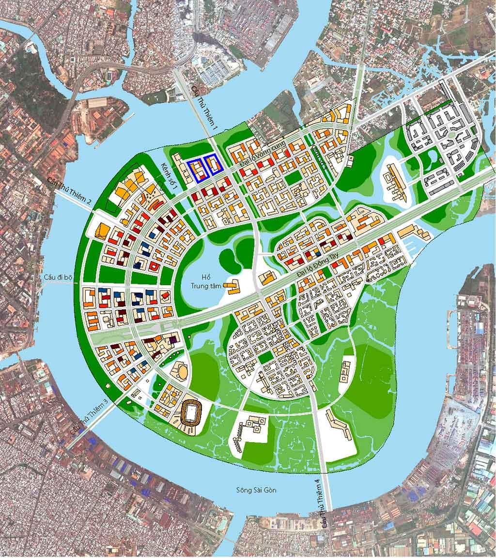 Mặt bằng căn hộ Thủ Thiêm River Park rất hiện đại và khoa học