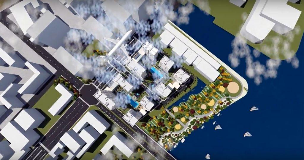 Phối cảnh dự án căn hộ Thủ Thiêm River Park nhìn trừ trên cao