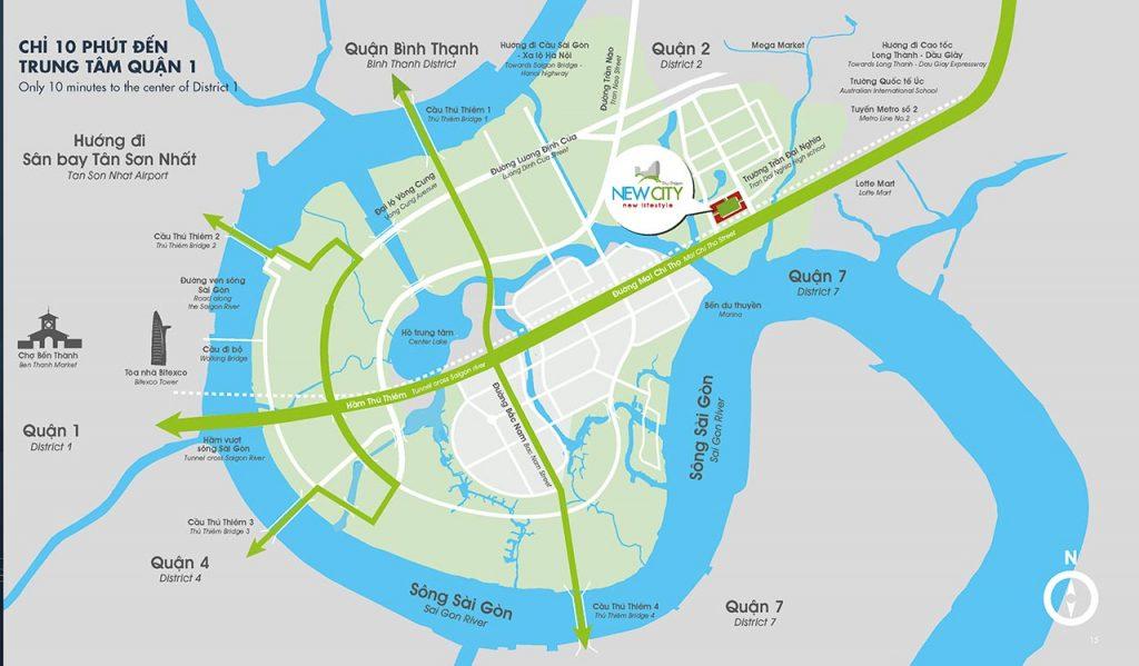 Dự án New City Thủ Thiêm nằm ở đâu?