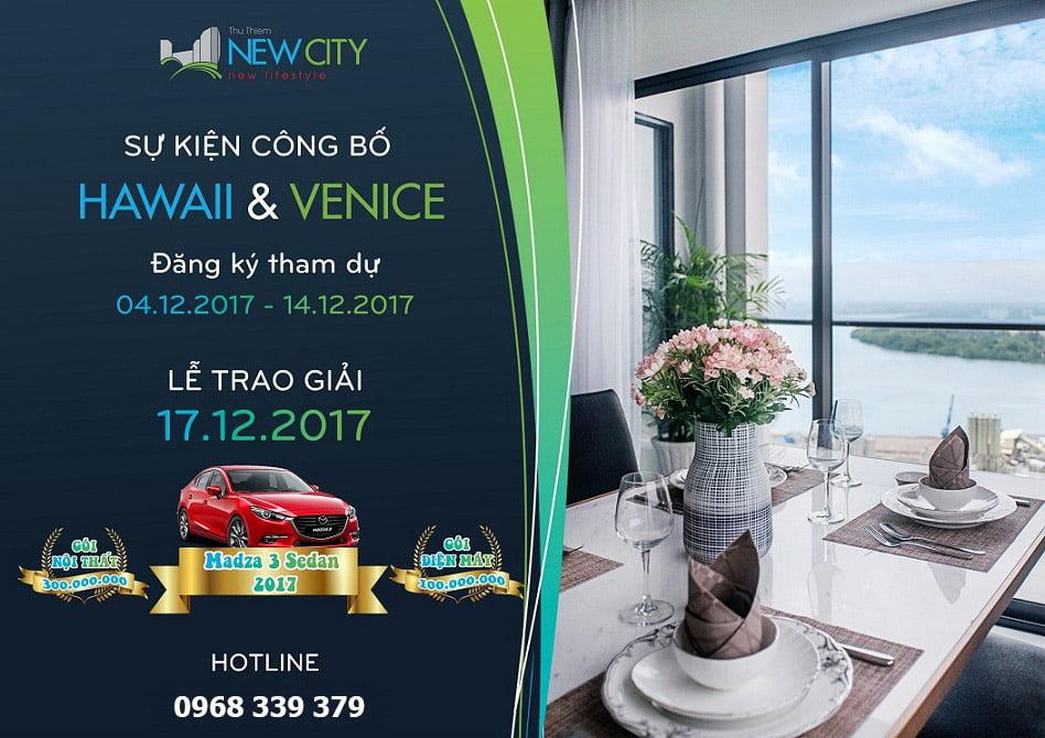 Sự kiện công bố căn hộ New City Thủ Thiêm tháp Hawaii và Venice