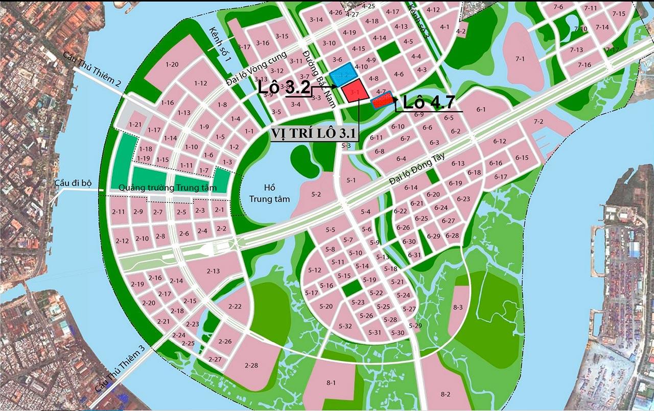 Vị trí dự án Thủ Thiêm Lake View nằm ở đâu?