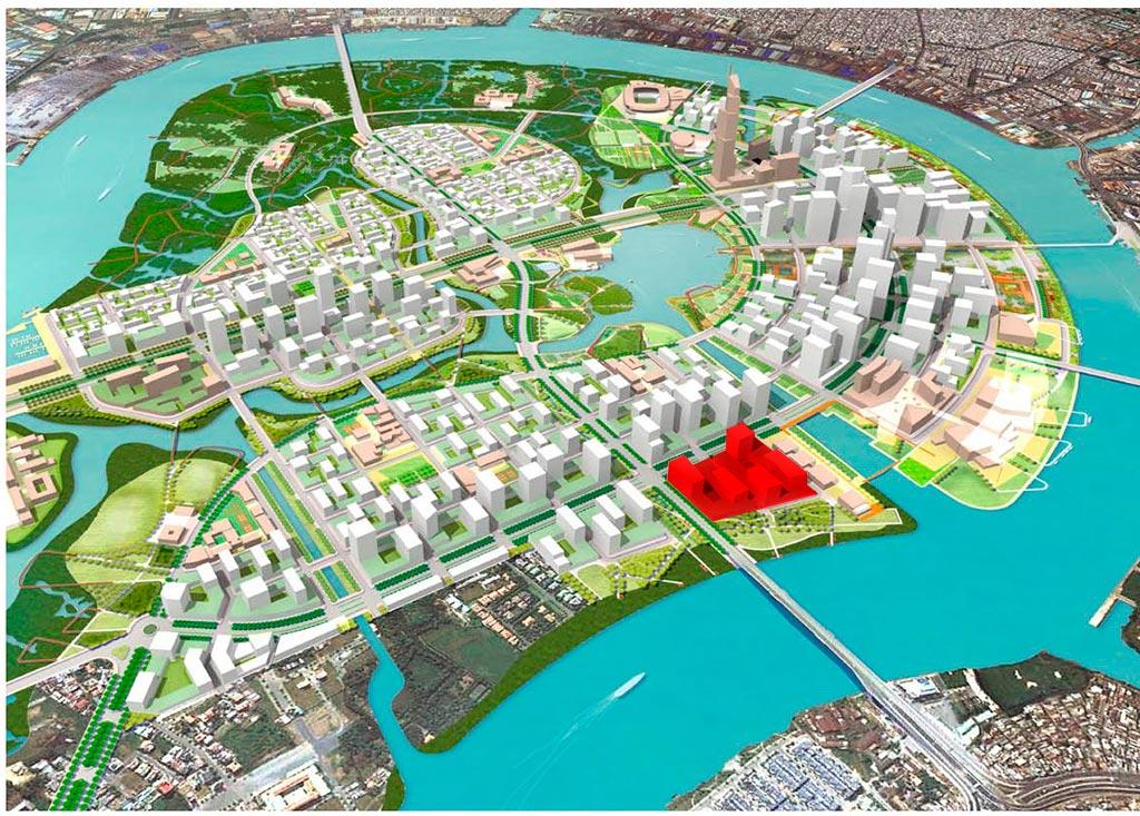 Vị trí dự án Thủ Thiêm River Park Quận 2 khả năng cao sẽ là khu nhà mẫu của dự án