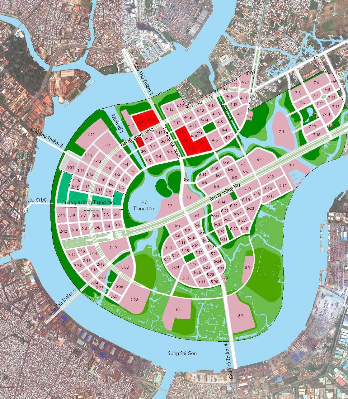 Dự án Thủ Thiêm CII tại khu đô thị Thủ Thiêm Quận 2