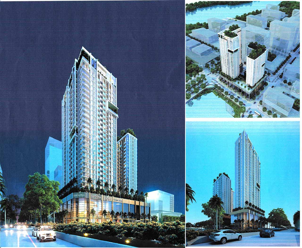 Hình phối cảnh dự án Riverfront Residences của CII