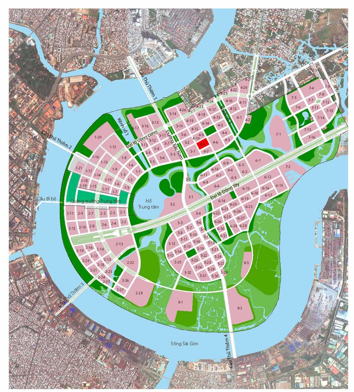 Vị trí lô 4.8 khu đô thị mới Thủ Thiêm