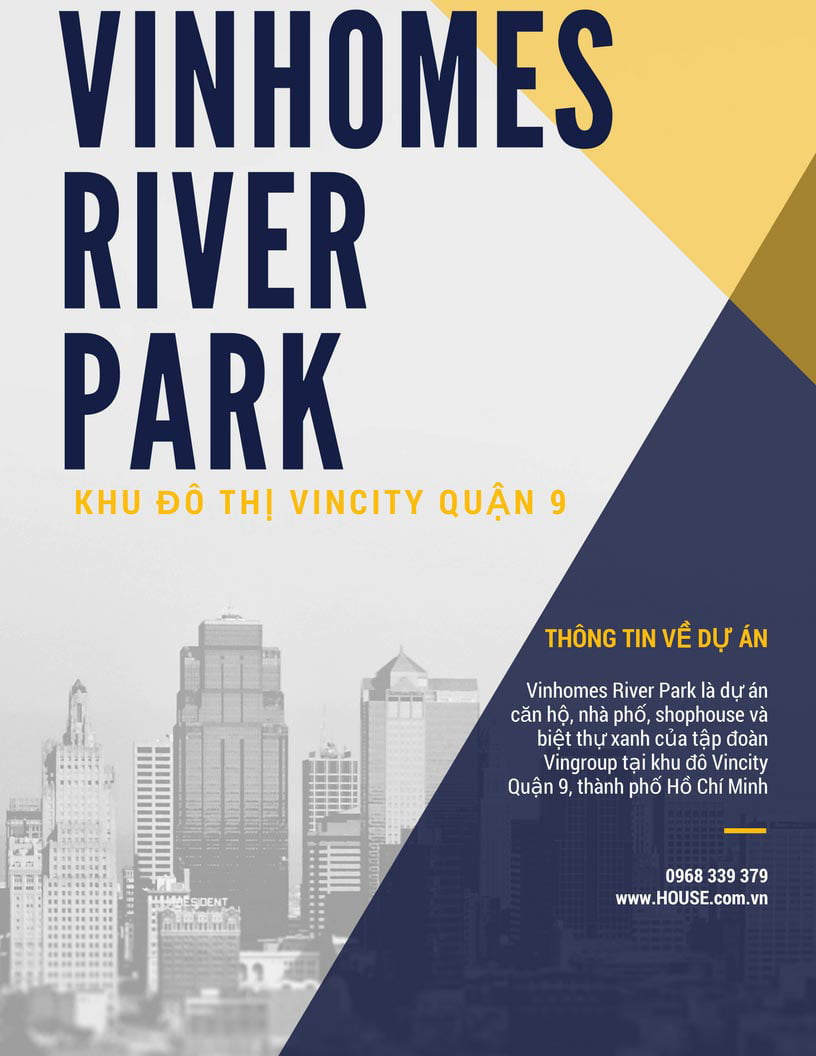Bán căn hộ Vinhomes River Park Quận 9