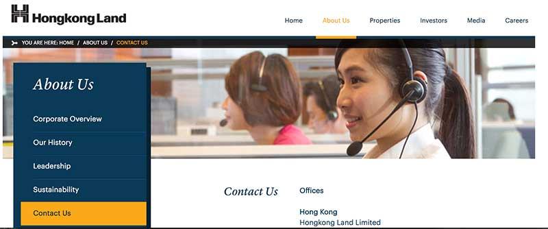 Liên hệ với Hongkong Land ở đâu?