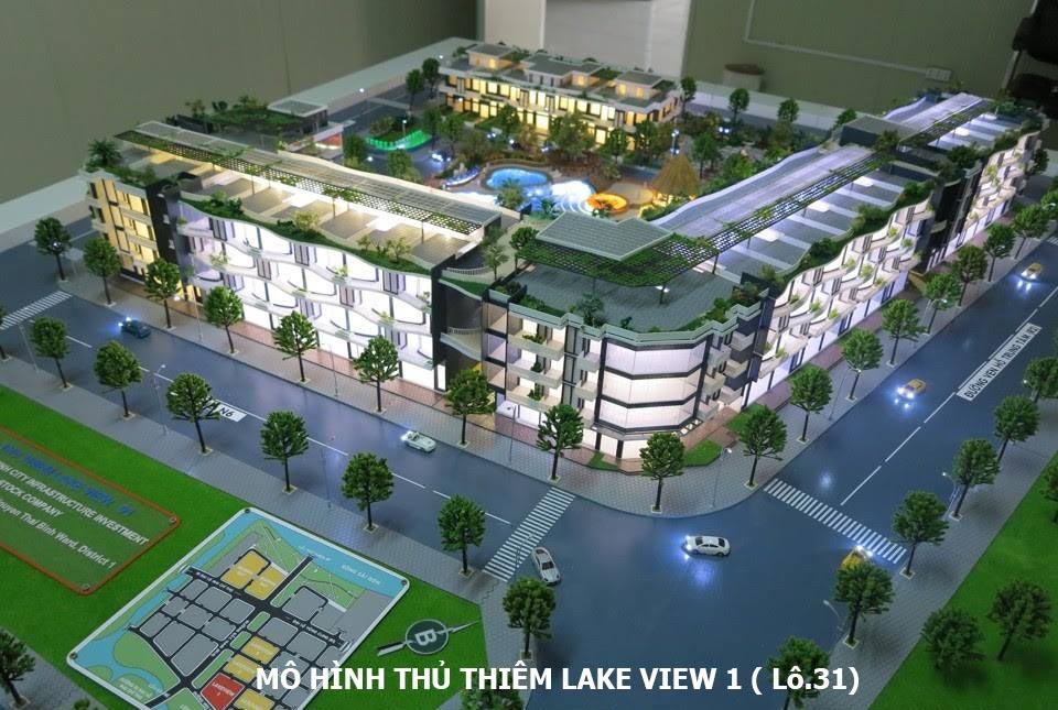 Mô hình dự án Thủ Thiêm Lake View lô 3.1