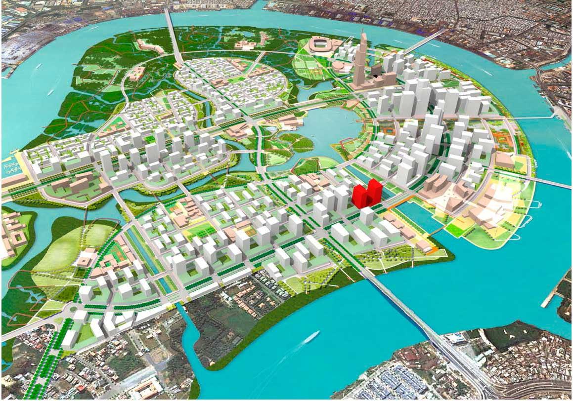 Vị trí dự án Riverfront Residences nằm ở đâu?