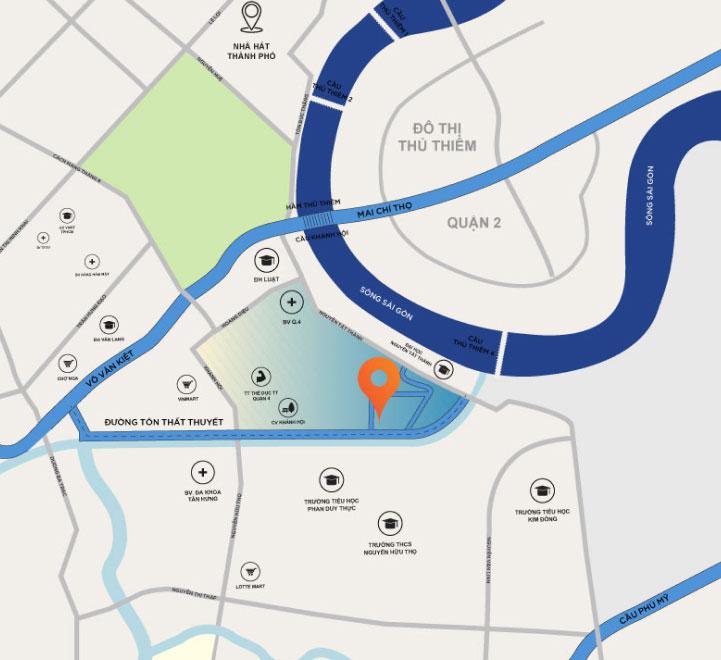 Bản đồ vị trí của dự án Sunshine Horizon