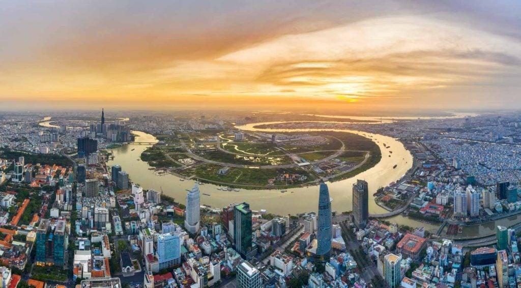 hình ảnh thực tế khu đô thị mới Thủ Thiêm Quận 2